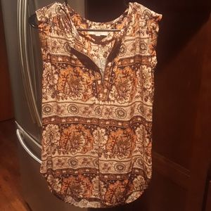 Loft Floral top size small